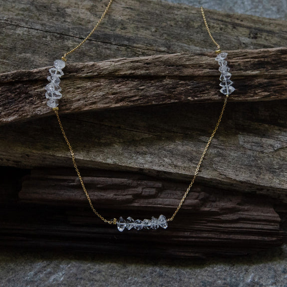 The Herkimer Diamond Necklace III - Joan Hornig Jewelry - New York Makers