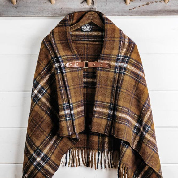 Wool Plaid Poncho - The Highlands Foundry - New York Makers