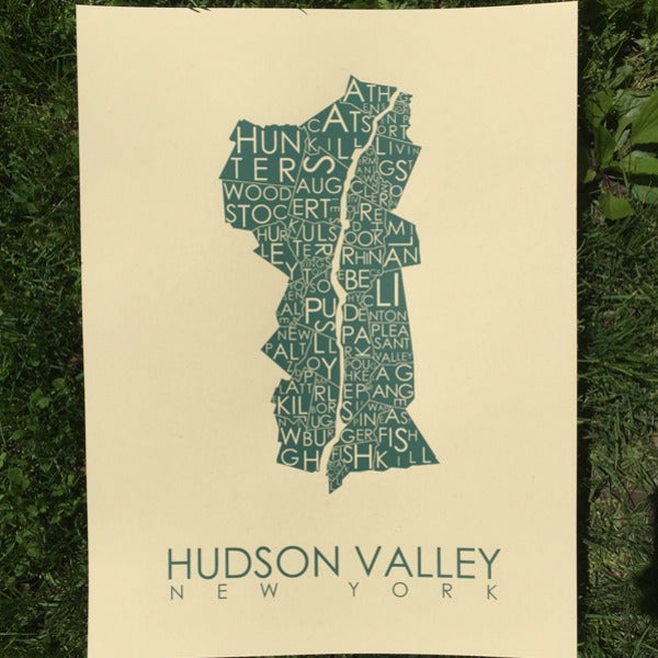 Hudson Valley Poster in Green