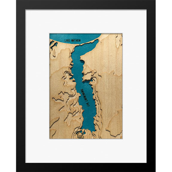 "Irondequoit Bay, NY 8"" x 10"" Frame in Multiple Finishes - Squirrel Hill Design and Craft - New York Makers"