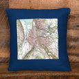 Topographic Pillow in Multiple Locations, Colors and Sizes - Greentree Fiber Arts - New York Makers