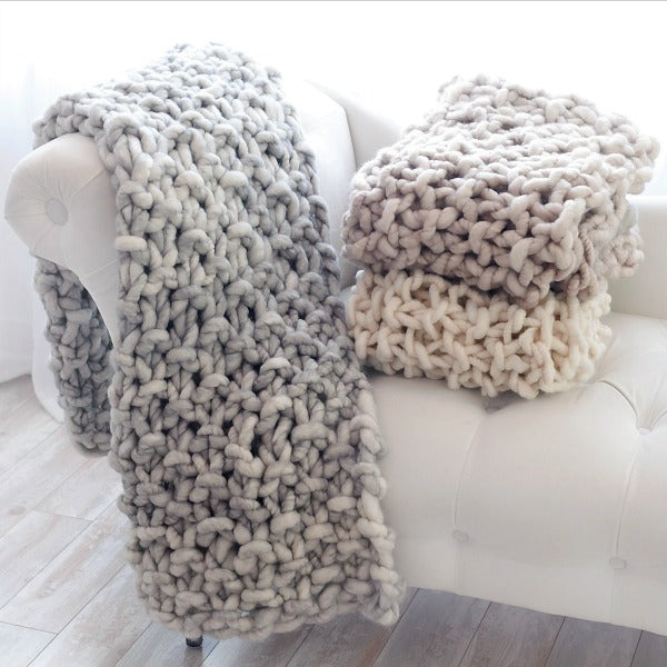 Merino Wool Throw in Multiple Colors - It's a Yummy - New York Makers