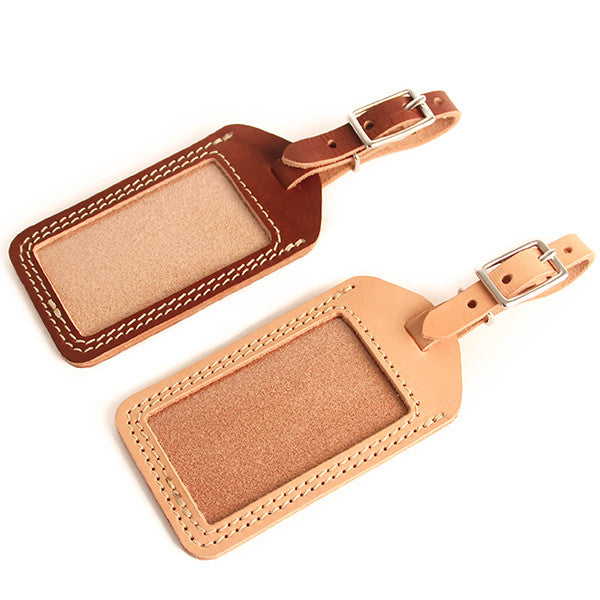 Leather Luggage Tag in Multiple Shades