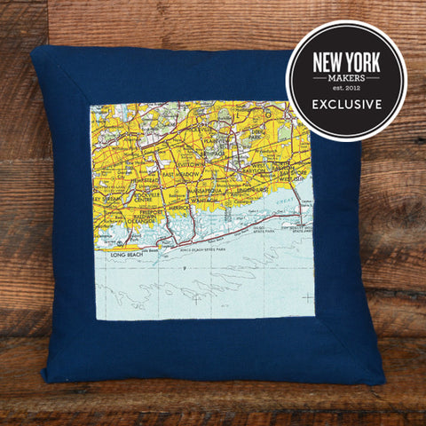 Jones Beach Topographic Pillow
