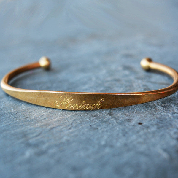 """Montauk"" Engraved Men's Bracelet - Jook & Nona - New York Makers"
