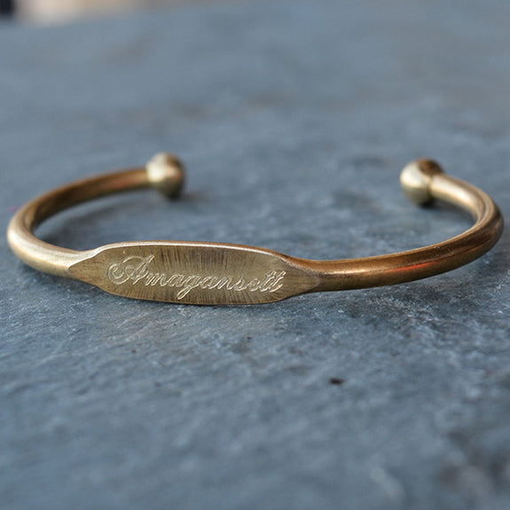 """Amagansett"" Engraved Women's Bracelet - Jook & Nona - New York Makers"