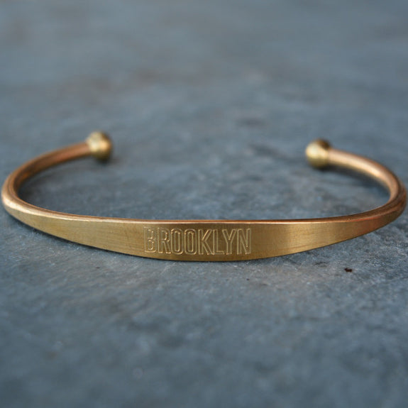 """Brooklyn"" Engraved Men's Bracelet - Jook & Nona - New York Makers"