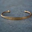 """East Hampton"" Engraved Men's Bracelet"