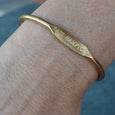 """East Hampton"" Engraved Women's Bracelet - Jook & Nona - New York Makers"