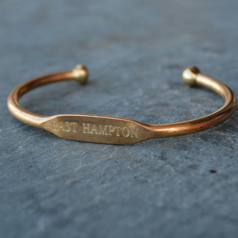 """East Hampton"" Engraved Women's Bracelet"