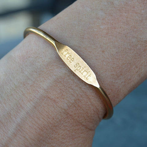 """Free Spirit"" Engraved Women's Bracelet"