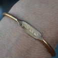 """Good Karma"" Engraved Women's Bracelet"