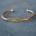 """Mom"" Engraved Women's Bracelet - Jook & Nona - New York Makers"