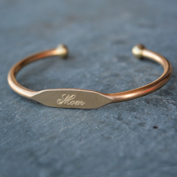 """Mom"" Engraved Women's Bracelet"