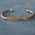 """NYC"" Engraved Women's Bracelet - Jook & Nona - New York Makers"