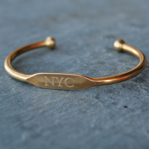 """NYC"" Engraved Women's Bracelet"