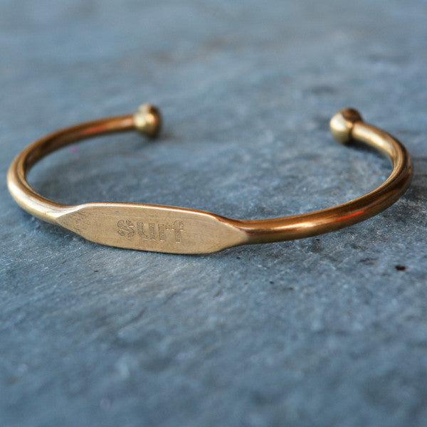 """Surf"" Engraved Women's Bracelet - Jook & Nona - New York Makers"