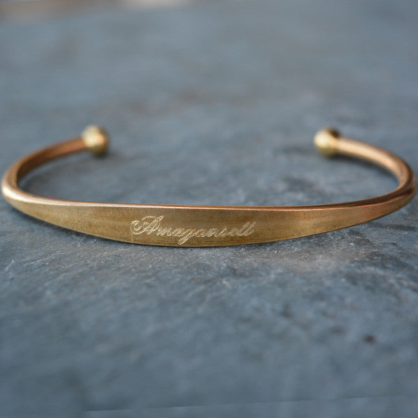 """Amagansett"" Engraved Men's Bracelet - Jook & Nona - New York Makers"