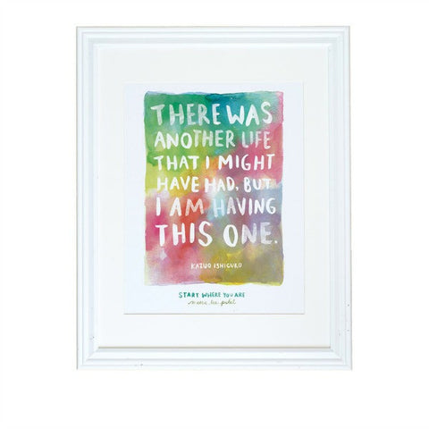 "Kazuo Ishiguro ""Start Where You Are"" Art Print"
