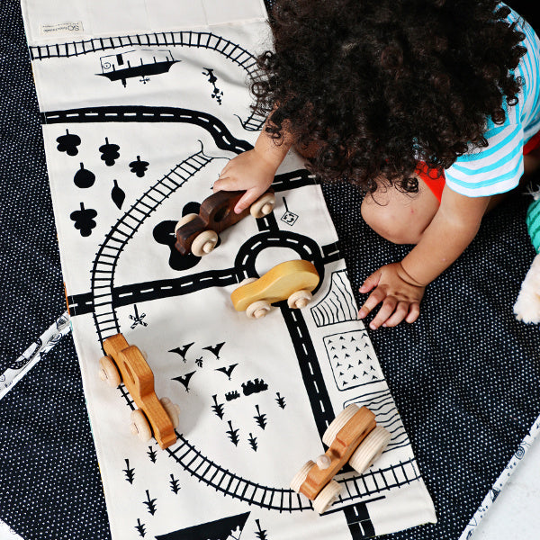 Village and Train Play Mat - SO Handmade - New York Makers