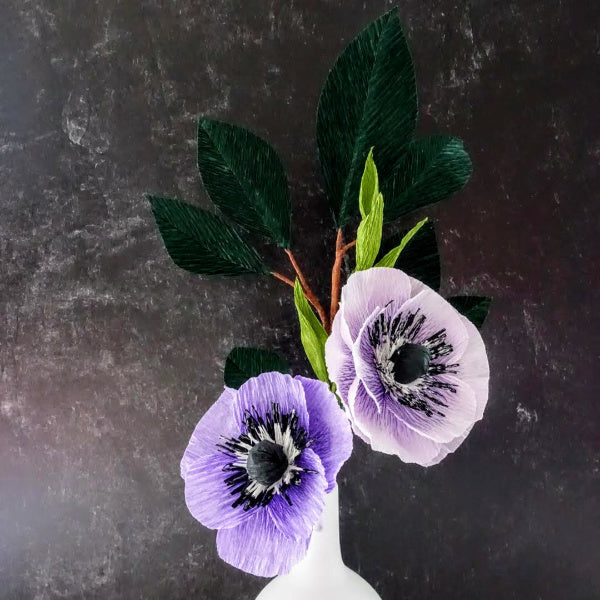 Paper Flower Anemones - Summer Space Studio - New York Makers