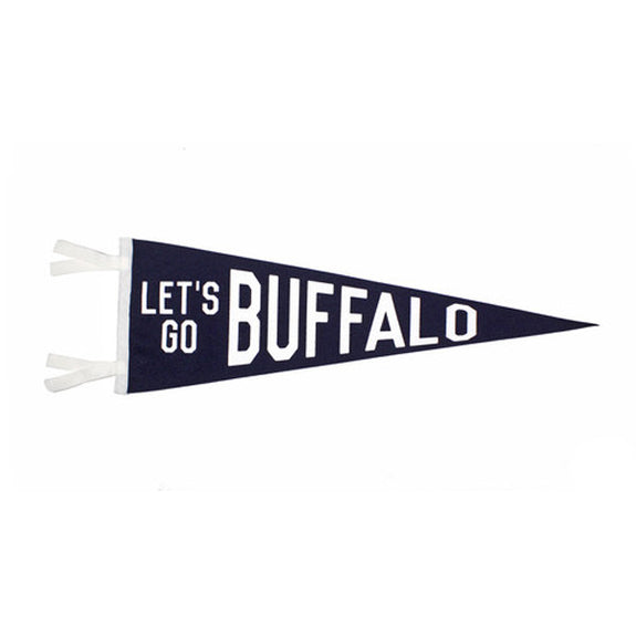 Let's Go Buffalo Pennant - Oxford Pennant - New York Makers