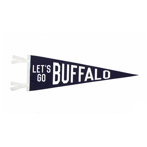 """Let's Go Buffalo"" Vintage-Inspired Pennant"