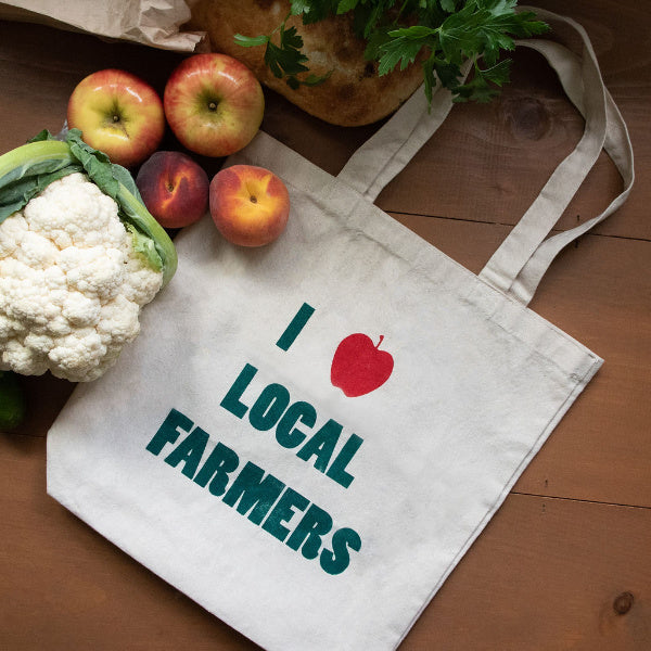 """I Love Local Farmers"" Tote - Natalie Washuta - New York Makers"