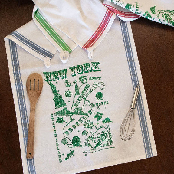 Five Boroughs Tea Towel - Lucky Fish - New York Makers