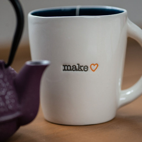 """Make ♥"" Porcelain Mug - New York Makers - New York Makers"