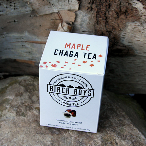 Wild Harvested Maple Chaga Tea Bags