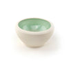 Porcelain Condiment Bowl with Green Interior