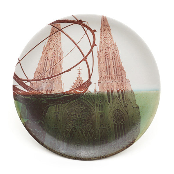 Porcelain Photoceramic St. Patrick's Cathedral Plate