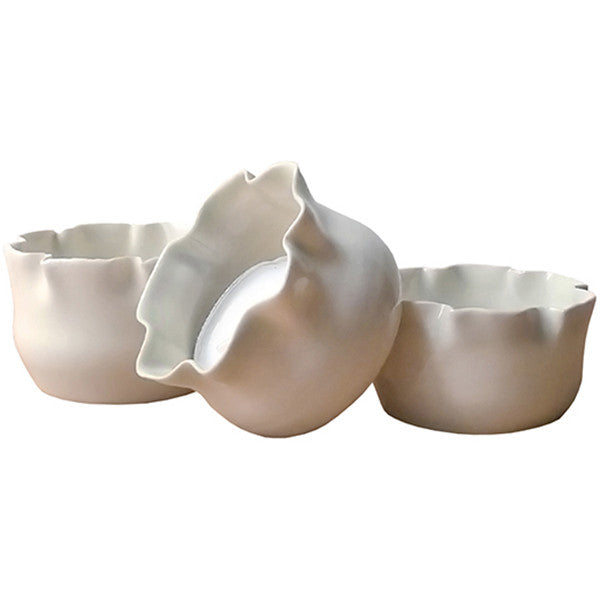 Porcelain White Tealight Holder Set