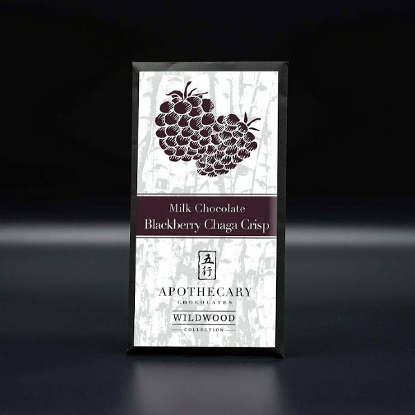 Milk Chocolate Blackberry Chaga Crisp - Apothecary Chocolates - New York Makers