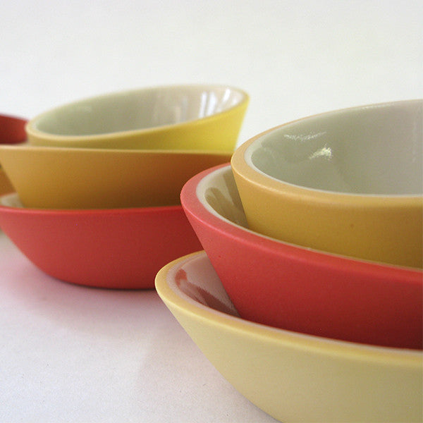 Porcelain Mini-Bowls in Spring Mix