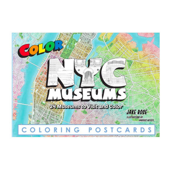 NYC Museums Coloring Postcards - Color Our Town - New York Makers
