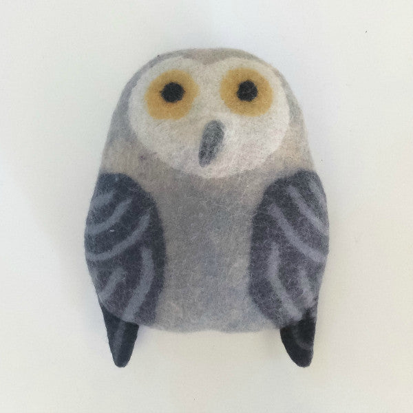Benny the Barn Owl Large Felted Stuffed Animal