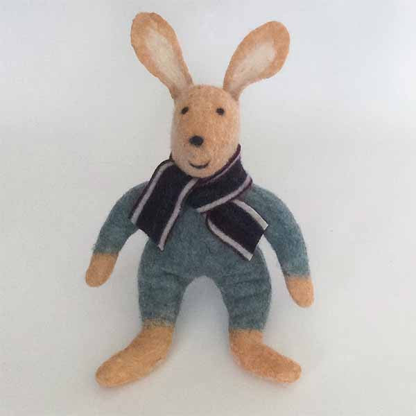 Bessie the Rabbit Felted Stuffed Animal