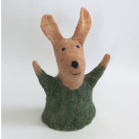 Bessie the Rabbit Felted Puppet and Stuffed Animal