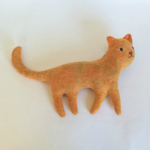 Cat Felted Stuffed Animal in Multiple Colors