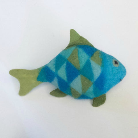 Sami the Fish Felted Stuffed Animal