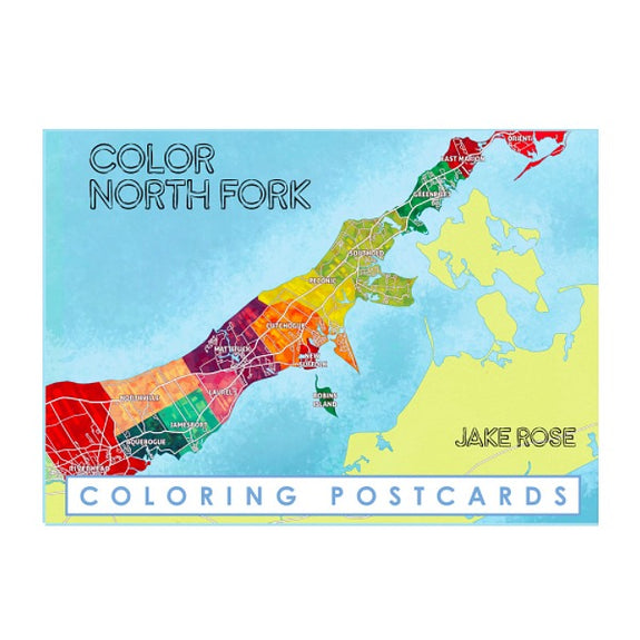 North Fork Coloring Postcards - Color Our Town - New York Makers