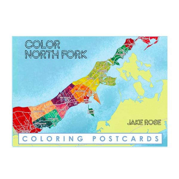 North Fork Coloring Postcards