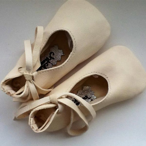 Ivory Lambskin Baby Ballet Shoes