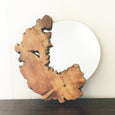 Organic Live Edge Mirror in Golden Brown