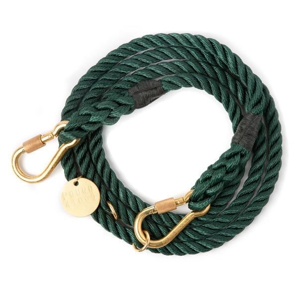 Rope Dog Leash in Hunter Green