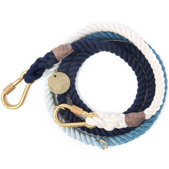 Rope Dog Leash in Indigo Ombre