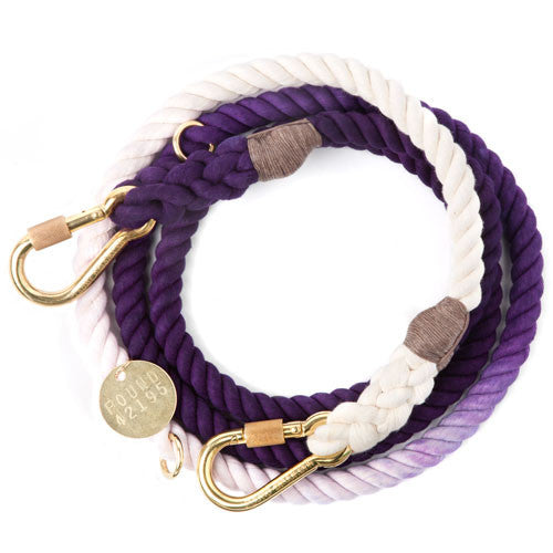 Rope Dog Leash in Purple Ombre