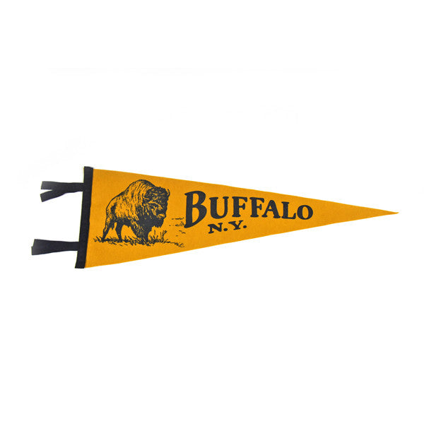 """Buffalo"" Vintage-Inspired Pennant"